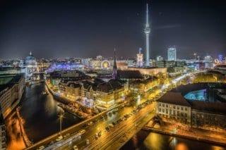 Berlin, Germany at night