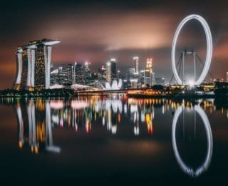 The Marina Bay is home to many expat jobs in Singapore.