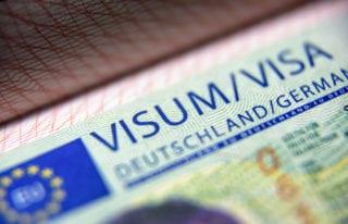 German visa stamp