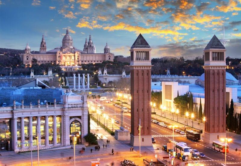 Plaza de Espana in Barcelon