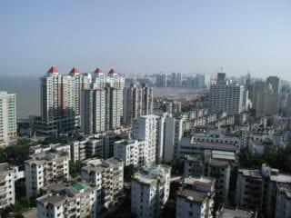 Zhuhai China city buildings